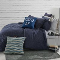 Jersey Space-Dyed Twin/Twin XL Comforter Set in Navy