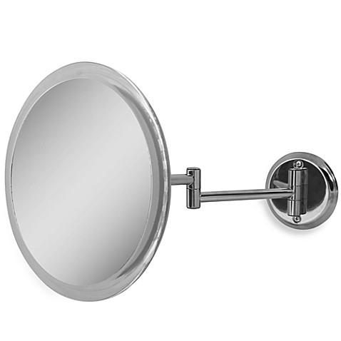 zadro 5x wall mounted makeup mirror in chrome bed bath beyond. Black Bedroom Furniture Sets. Home Design Ideas