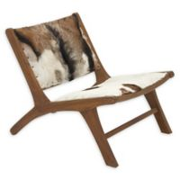 Ridge Road Decor Leather Upholstered Chair