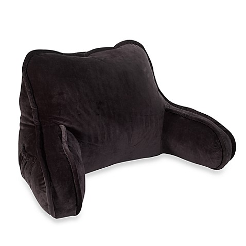 plush backrest pillow in black bed bath beyond With black backrest pillow