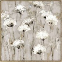 """Field of Blooms"" 30-Inch x 30-Inch Framed Embellished Canvas Wall Art"