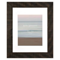 Rustic 8-Inch x10-Inch Matted Textured Wood Frame in Walnut