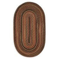 Capel Rugs Manchester 11'4 x 14'4 Braided Oval Area Rug in Brown