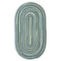 Capel Rugs Manchester 11'4 x 14'4 Braided Oval Area Rug in Light Blue