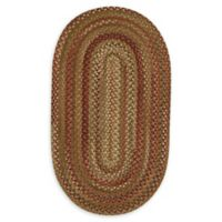 Capel Rugs Manchester 11'4 x 14'4 Braided Oval Area Rug in Red/Beige