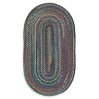 Capel Rugs High Rock Oval Braided 9'2 x 13'2 Area Rug in Blue