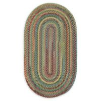 Capel Rugs High Rock Oval Braided 9'2 x 13'2 Area Rug in Green