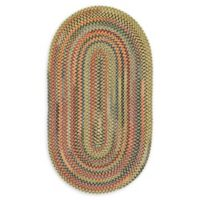 Capel Rugs High Rock Oval Braided 9'2 x 13'2 Area Rug in Gold
