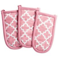 Design Imports Lattice Pan Handle Covers in Pink (Set of 3)