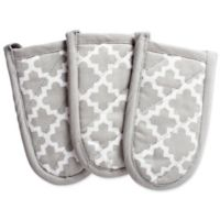Design Imports Lattice Pan Handle Covers in Grey (Set of 3)
