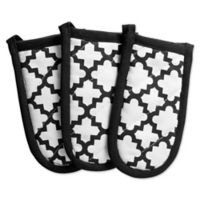 Design Imports Lattice Pan Handle Covers in Black (Set of 3)