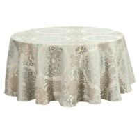 Waterford® Linens Jonet 90-Inch Round Tablecloth in Aqua