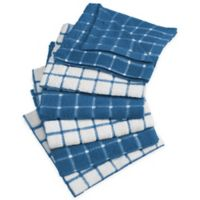 Design Imports Windowpane Dish Cloth in Blue (Set of 6)