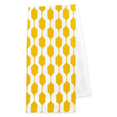 Zestt Logan Organic Cotton Tea Towels In Citron (Set Of 2)