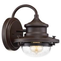 Quoizel® Waterville 1-Light 9.5-Inch Wall-Mount Outdoor Lantern in Western Bronze