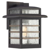 Quoziel® Plaza 1-Light Medium Outdoor Wall Light in Palladian Bronze