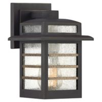 Quoziel® Plaza 1-Light Small Outdoor Wall Light in Palladian Bronze