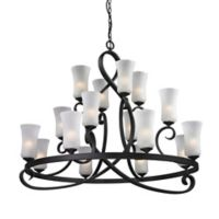 Filament Design 16-Light Ceiling-Mount Chandelier in Bronze