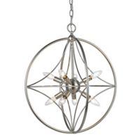 Filament Design Cage 8-Light 20-Inch Ceiling Mount Pendant Light in Brushed Nickel