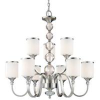 Filament Design Cosmopolitan 9-Light Chandelier in Brushed Nickel