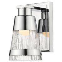 Filament Design Ethos 1-Light LED Wall Sconce in Chrome with Chisel Glass