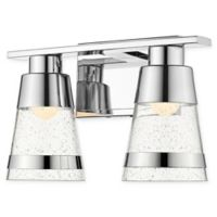 Filament Design Ethos 2-Light LED Wall Sconce in Chrome with Seeded Glass
