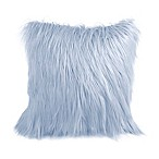 Flokati Faux Fur 26-Inch Square Throw Pillow in Celestial Blue