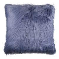 Flokati Faux Fur 26-Inch Square Throw Pillow in Ocean Blue