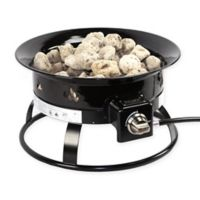 DestinationGear Portable Propane Fire Pit in Black