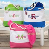 All About Me Embroidered Beach Tote