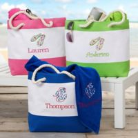 Beach Fun Embroidered Beach Tote