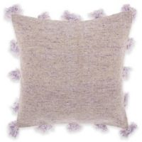 Mina Victory Tassel Border Square Throw Pillow in Lavender