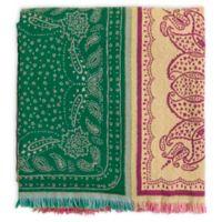 Surya Indira Throw Blanket in Pink/Lime
