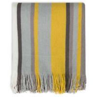 Surya Topanga Throw Blanket in Yellow/Light Grey