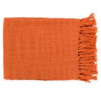 Surya Tilda Throw Blanket in Burnt Orange