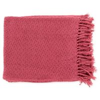 Surya Tress Throw Blanket in Bright Pink