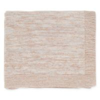 Surya Tremolo Throw Blanket in Cream/Light Grey