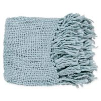 Surya Tobias Throw Blanket in Aqua