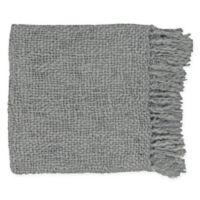 Surya Tobias Throw Blanket in Grey