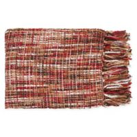 Surya Tabitha Throw Blanket in Red/Tan