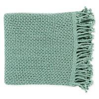 Surya Tibey Throw Blanket in Aqua