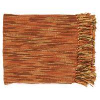 Surya Teegan Oversized Throw Blanket in Rust/Khaki