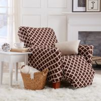 Great Bay Home Brenna Strapless Reclinger Slipcover in Chocolate
