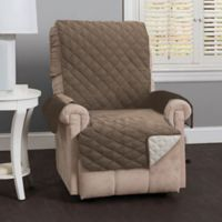 Great Bay Home Kaylee Reversible Quilted Recliner Cover in Linen
