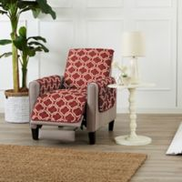 Great Bay Home Adalyn Reversible Quilted Recliner Cover in Burgundy