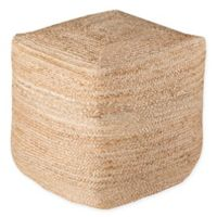 Surya Jute Pouf in Tan