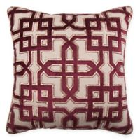 Sofia Square Throw Pillow in Burgundy