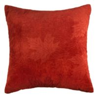 Maple Leaves Square Throw Pillow in Rust