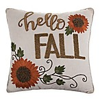 Hello Fall Square Throw Pillow in Natural