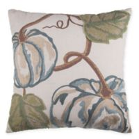 Pumpkins Square Throw Pillow in Blue